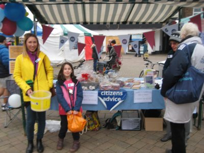 Citizens Advice Charnwood at Saturday's Loughborough Market